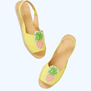 Lilly Pulitzer Liz slingback espadrilles pineapple
